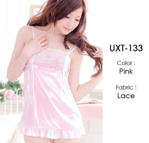 Pink Lace Cute Baby Doll Lingerie UXT-133