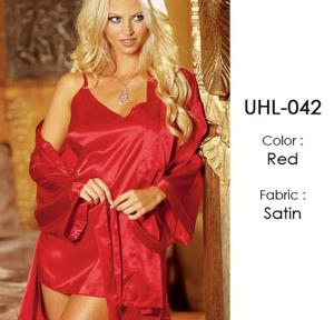 Red Kimono Baby Doll Lingerie Sets UHL-042