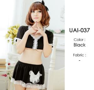 Black Cosplay Lingerie Costumes Sets UAI-037